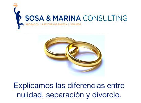 Diferencias entre Nulidad, Separación y Divorcio